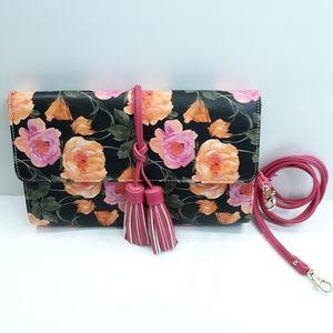 Sondra Roberts Floral Crossbody Clutch